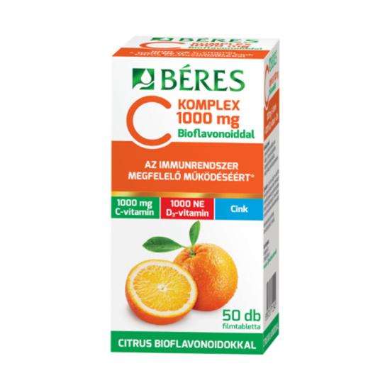 Béres C Komplex 1000 mg C D3 Zn filmtabletta 50x