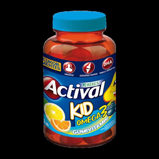 Béres Actival Kid omega - 3 gumivitamin cukormentes gumitabletta 30x