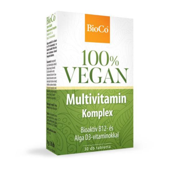 BioCo 100% Vegan Multivitamin komplex tabletta 30x