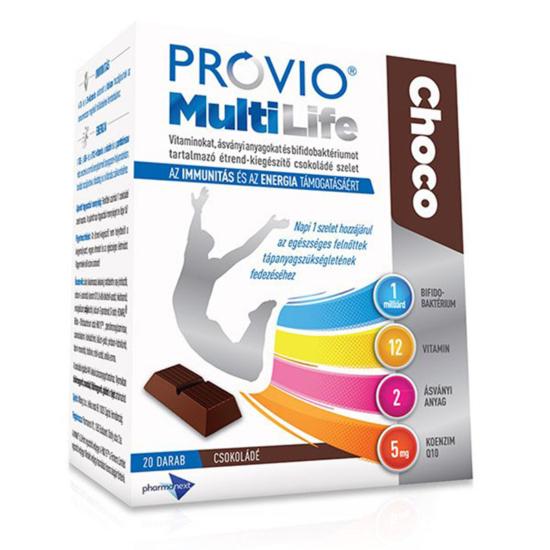 Provio Multi Life Choco étcsokoládé szelet 20x
