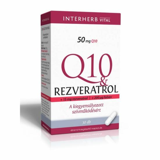 Interherb Q10 & Rezveratrol kapszula 30db