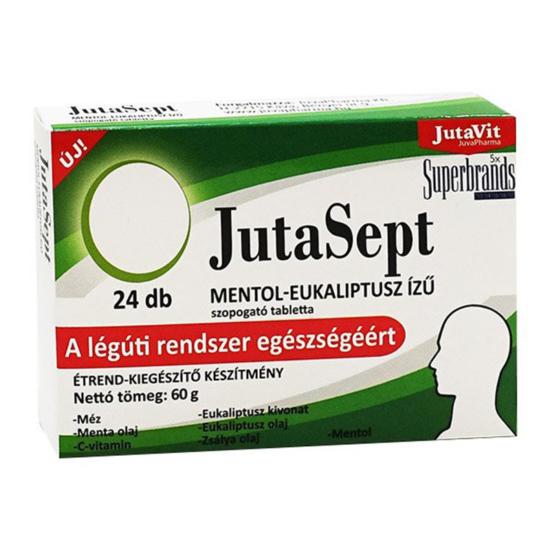 JutaVit JutaSept mentol-eukaliptusz ízű szopogató tabletta 24x