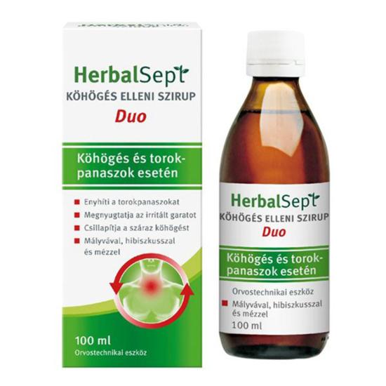 Dr. Theiss HerbalSept Duo köhögés elleni szirup 100ml