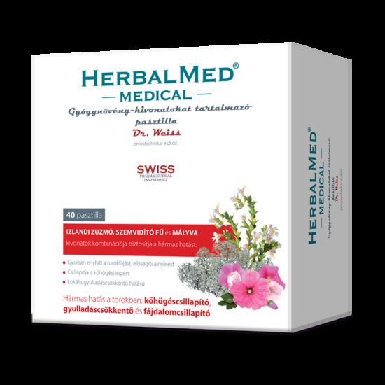 HerbalMed Medical gyógynövény kivonatokat tartalmazó pasztilla 40x