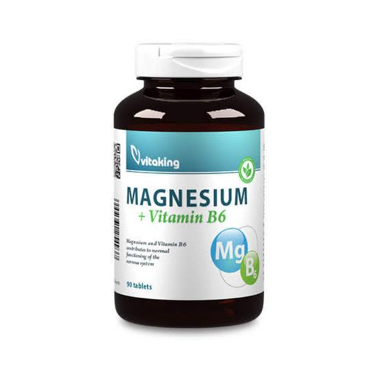 Vitaking Megnesium Citrate 150mg + B6-vitamin tabletta 90x